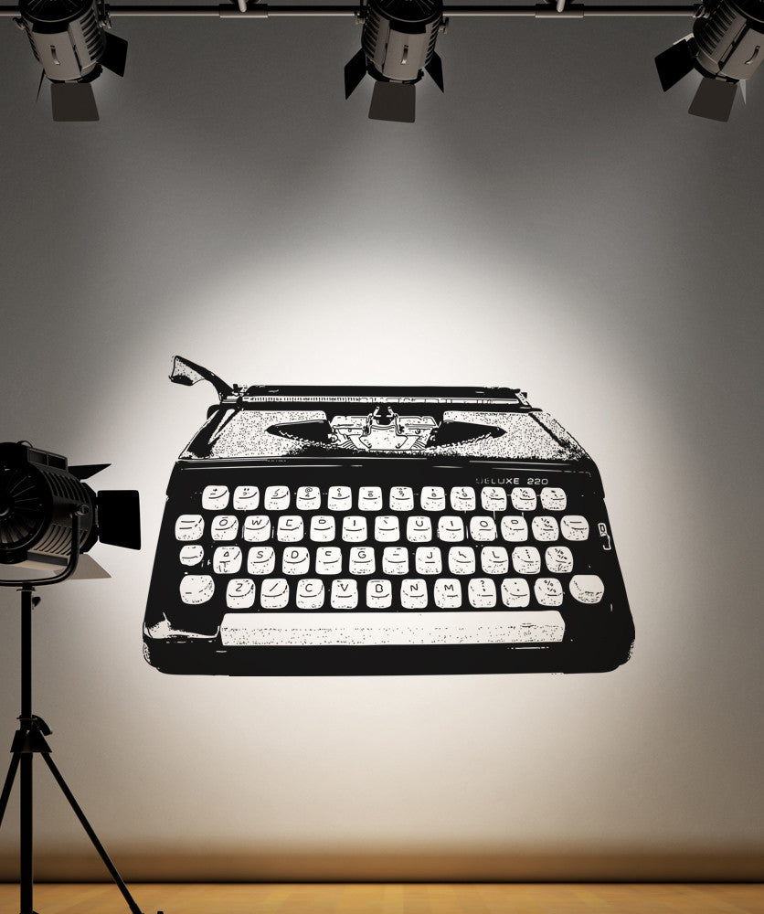 Vinyl Wall Decal Sticker Antique Typewriter #OS_AA170