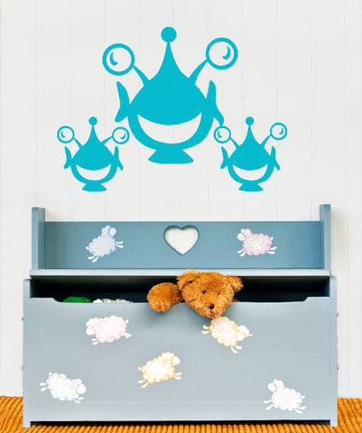 Vinyl Wall Decal Sticker Happy Aliens #OS_AA171