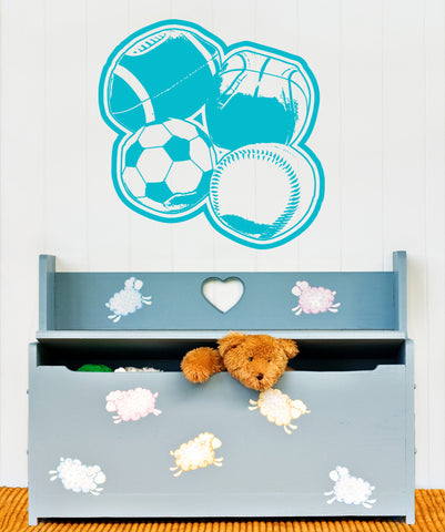 Vinyl Wall Decal Sticker Kids' Sports Ball #OS_AA175