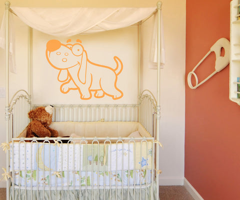 Vinyl Wall Decal Sticker Silly Dog #OS_AA613