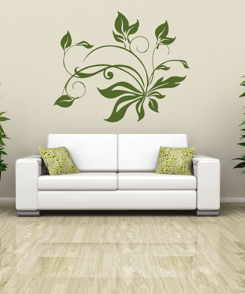 Vinyl Wall Decal Sticker Tangle of Leaves #OS_AA254