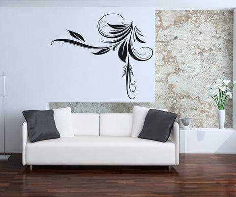 Vinyl Wall Decal Sticker Swirly Plant #OS_AA369