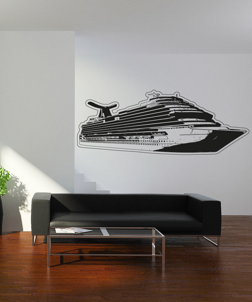 Vinyl Wall Decal Sticker Cruise Ship #OS_AA318