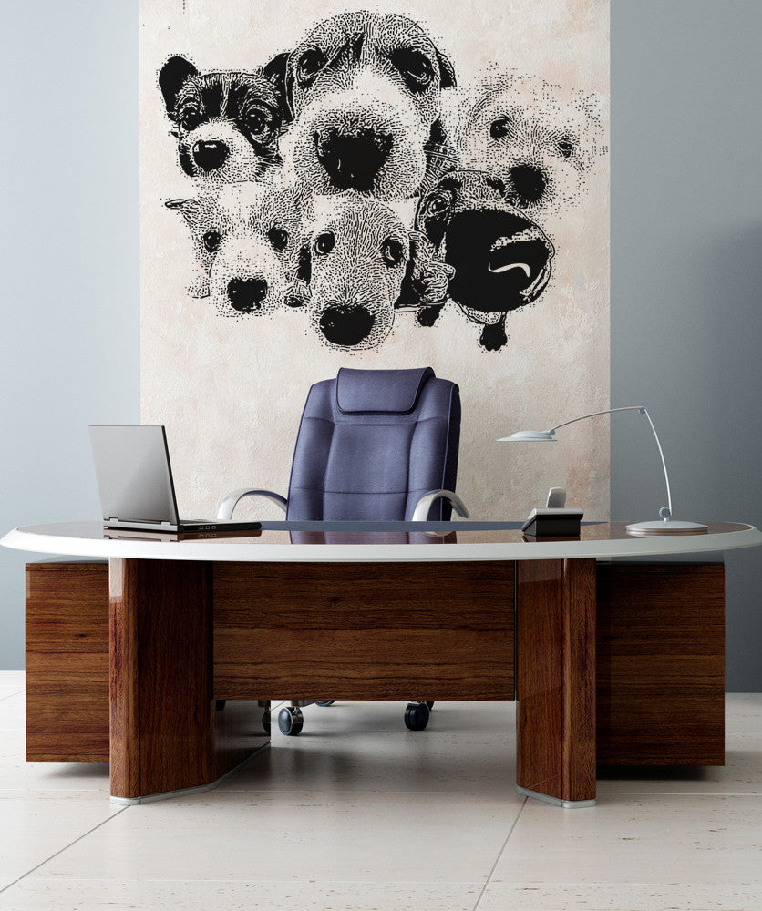Vinyl Wall Decal Sticker Dogs #OS_AA571
