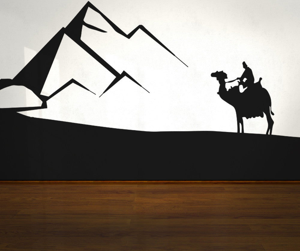 Vinyl Wall Decal Sticker Camel Ride in the Desert #OS_AA535