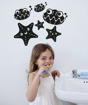 Vinyl Wall Decal Sticker Cartoon Starfish and Shells #OS_AA285