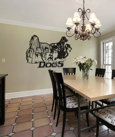 Vinyl Wall Decal Sticker Dogs #OS_AA615