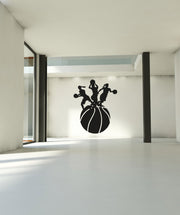 Vinyl Wall Decal Sticker Women's Basketball World 2 #OS_AA506