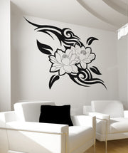 Vinyl Wall Decal Sticker Tribal Flowers #OS_AA250