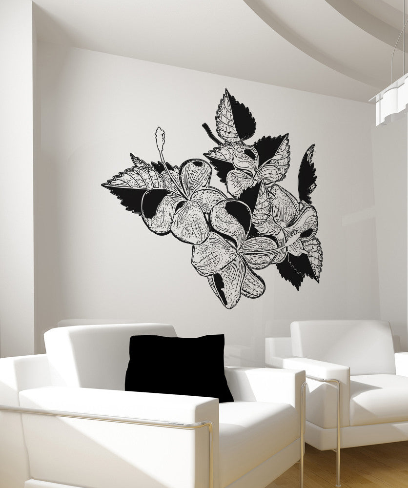 Vinyl Wall Decal Sticker Tropical Flowers Os Aa261