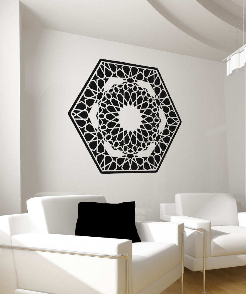 Vinyl Wall Decal Sticker Hexagon Design #OS_AA323