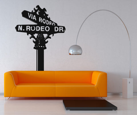 Vinyl Wall Decal Sticker Rodeo Drive Sign #OS_AA560