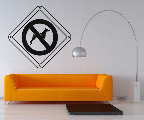 Vinyl Wall Decal Sticker No Dogs Allowed #OS_AA570