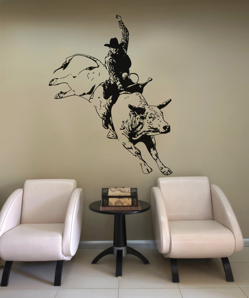 Vinyl Wall Decal Sticker Rodeo Cowboy #OS_AA407