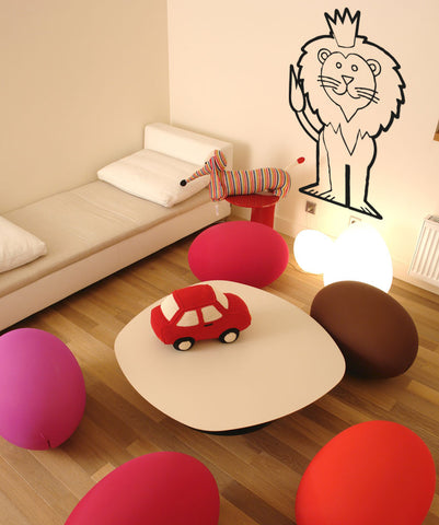 Vinyl Wall Decal Sticker Royal Lion #OS_AA547