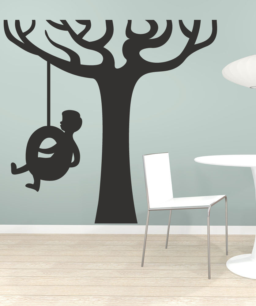 Vinyl Wall Decal Sticker Tire Swing #OS_MB451