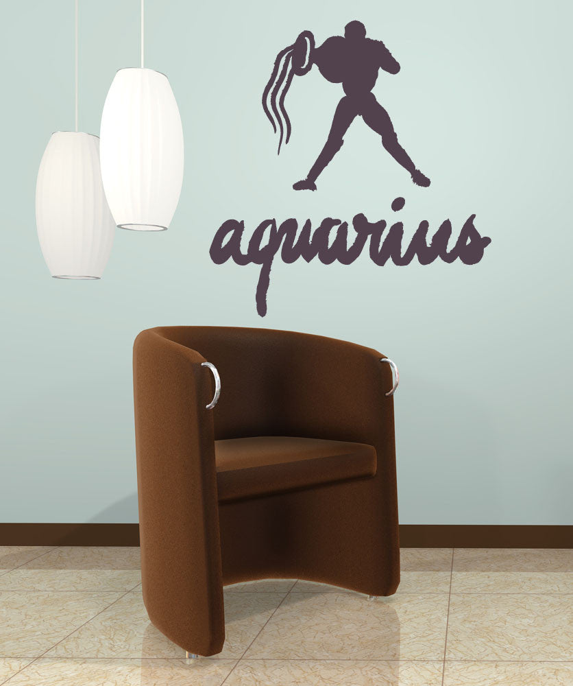 Vinyl Wall Decal Sticker Aquarius #OS_MB440