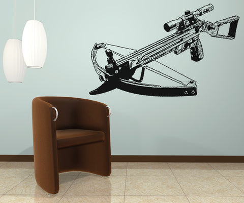 Vinyl Wall Decal Sticker Modern Crossbow #OS_AA524