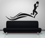 Vinyl Wall Decal Sticker Women's Basketball Player #OS_AA509