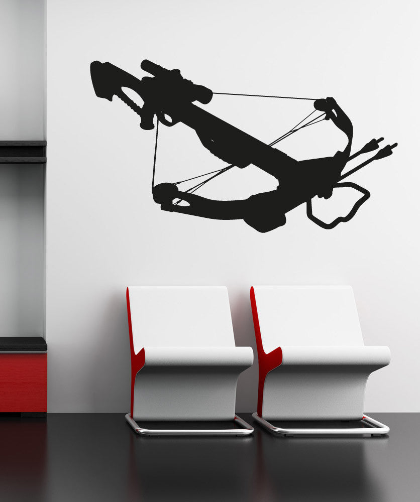Vinyl Wall Decal Sticker Crossbow Silhouette #OS_AA519