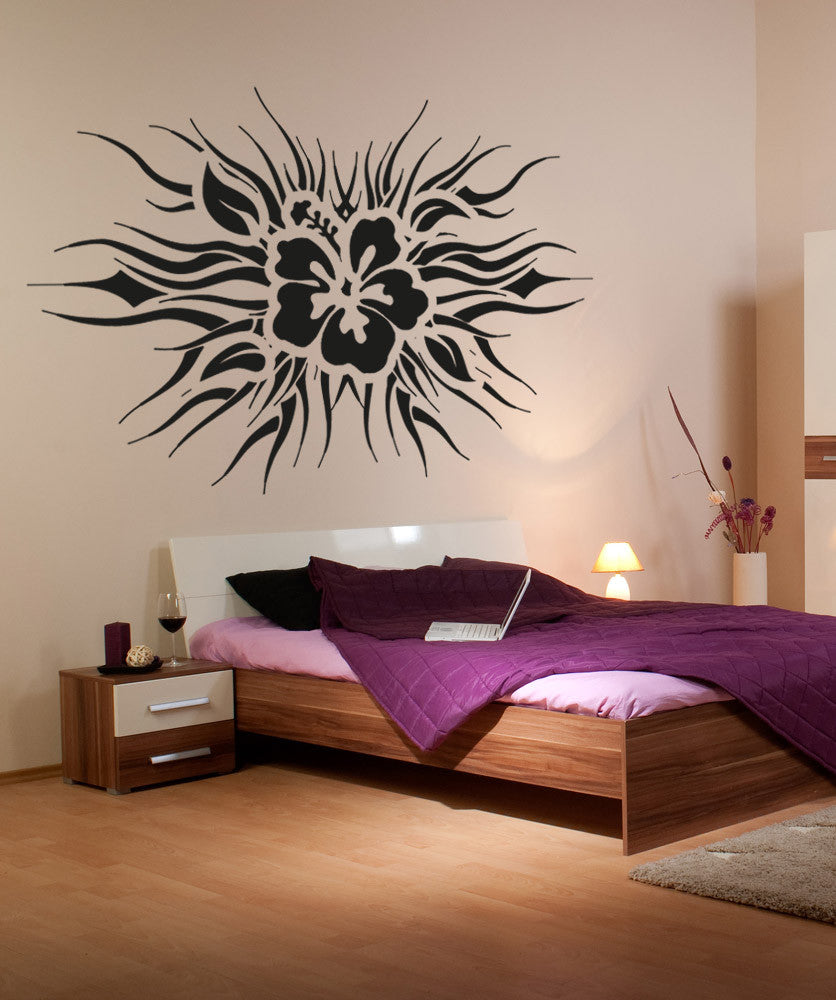Vinyl Wall Decal Sticker Tropical Flower Design Os Aa275