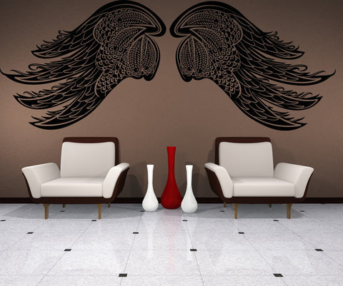 Vinyl Wall Decal Sticker Intricate Wings #OS_DC231