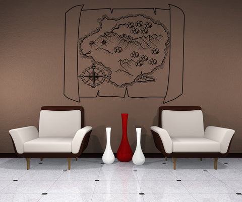 Vinyl Wall Decal Sticker Map of Adventure #OS_AA403
