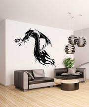Vinyl Wall Decal Sticker Tribal Dragon #OS_AA531