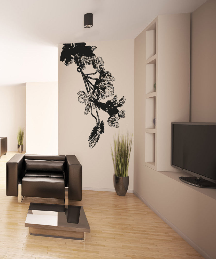 Vinyl Wall Decal Sticker Leaves on Vines #OS_AA290