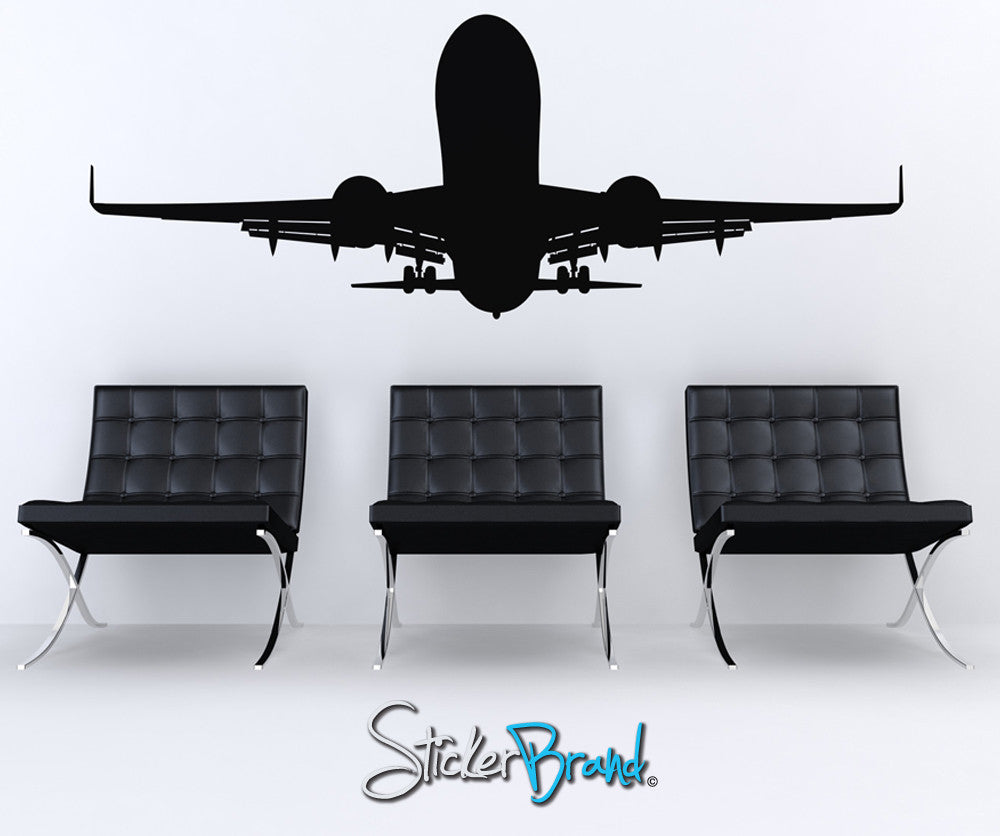 Vinyl Wall Decal Sticker Airplane Taking Off  #OS_ES101