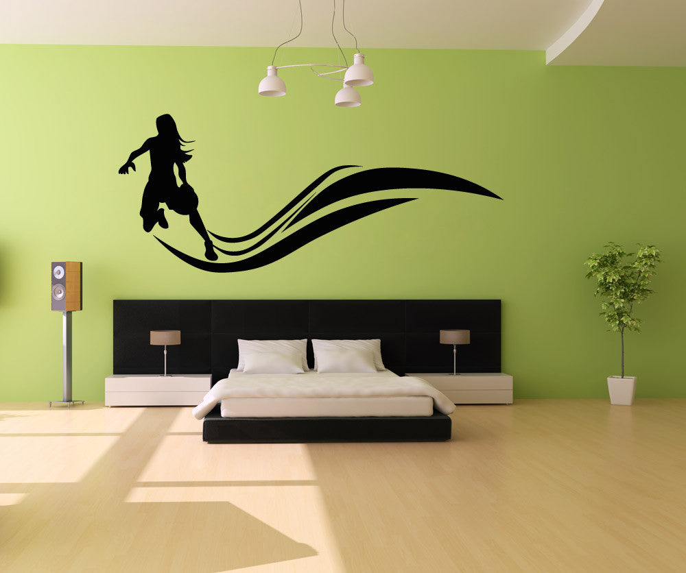 Vinyl Wall Decal Sticker Basketball Woman Player #OS_AA511