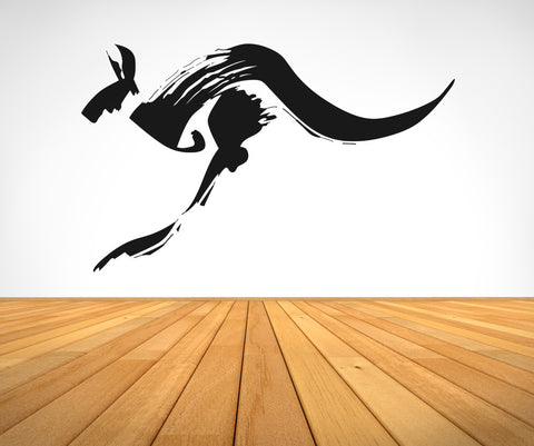 Vinyl Wall Decal Sticker Kangaroo Brush Strokes #OS_AA470