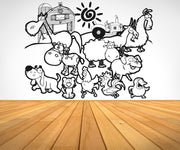 Vinyl Wall Decal Sticker Farm Animals #OS_AA584