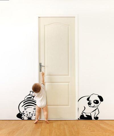 Vinyl Wall Decal Sticker Cat and Dog #OS_DC200