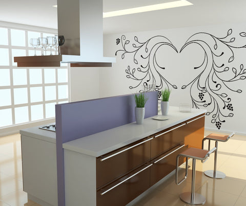 Vinyl Wall Decal Sticker Vine Wings #OS_DC232