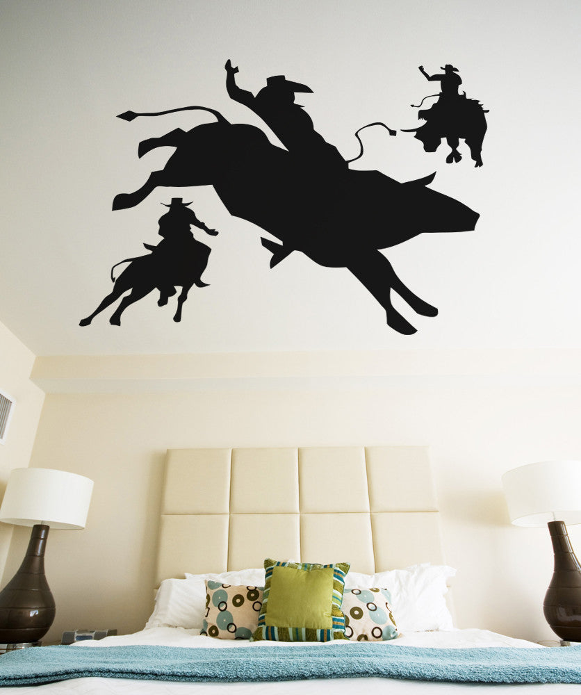 Vinyl Wall Decal Sticker Rodeo Time #OS_AA410