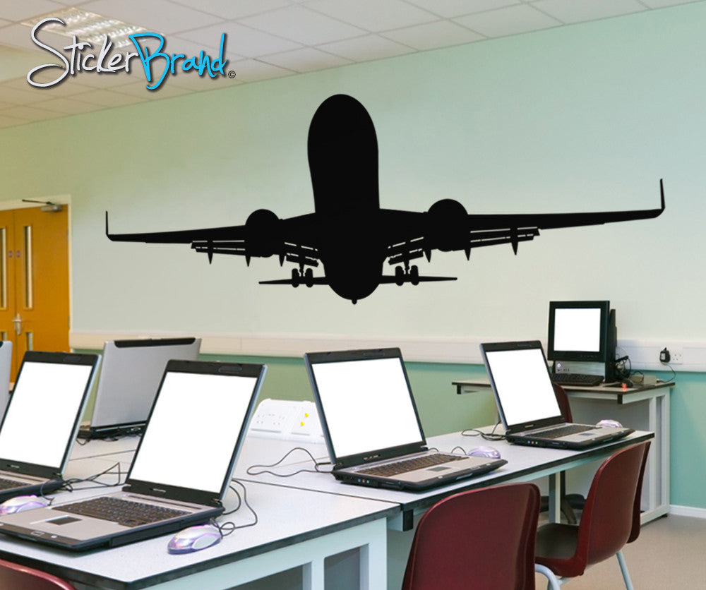 Vinyl Wall Decal Sticker Airplane Taking Off OSES - Vinyl wall decals airplane