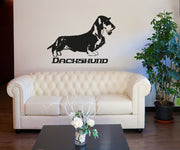 Vinyl Wall Decal Sticker Long Haired Dachshund #OS_AA623