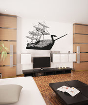 Vinyl Wall Decal Sticker Ancient Mediterranean Warrior Ship #OS_AA312