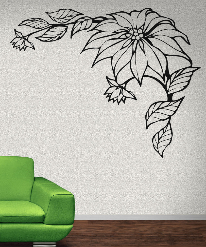 Vinyl Wall Decal Sticker Poinsettia #OS_AA236