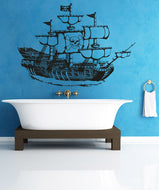 Vinyl Wall Decal Sticker Pirate Ship #OS_AA306