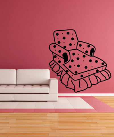 Vinyl Wall Decal Sticker Lounge Chair #OS_MG357