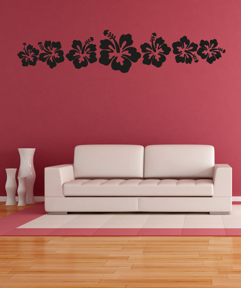 Vinyl Wall Decal Sticker Hawaiian Flowers #OS_AA240