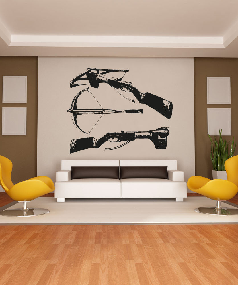 Vinyl Wall Decal Sticker Trio of Crossbows #OS_AA523