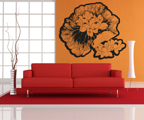 Vinyl Wall Decal Sticker Water Lillies #OS_AA252