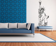 Vinyl Wall Decal Sticker Statue of Liberty Outline #OS_MB521