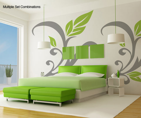 Vinyl Wall Decal Sticker Leaves #OS_AA113
