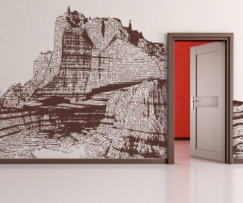 Vinyl Wall Decal Sticker Grand Canyon Rocks #OS_AA554