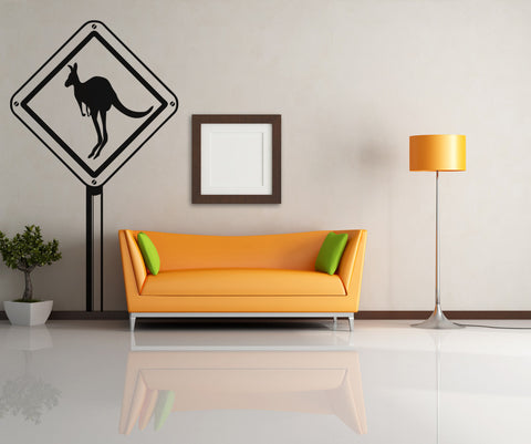 Vinyl Wall Decal Sticker Kangaroo Sign #OS_AA480