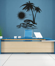 Vinyl Wall Decal Sticker Tropical Sunset #OS_AA267